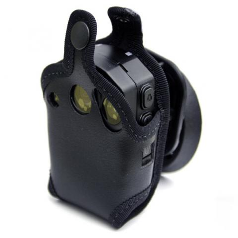 Klick Fast leather pouch for your F1 camera. Fits all Police garments.