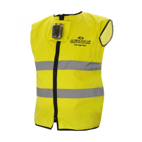 High visibility clothing with bespoke camera insert.