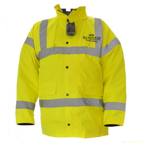 Hi Viz Jacket With Camera Facility Pouch